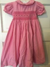 Orient Expressed Girls Size 4 Pink Gingham Smocked Dress