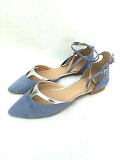 ZARA FLAT VAMP SHOES WITH ANKLE STRAPS SIZE UK6/EUR39/US8