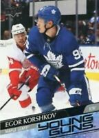 2020-21 Upper Deck Series 1 Egor Korshkov Young Guns RC #219 TORONTO MAPLE LEAFS
