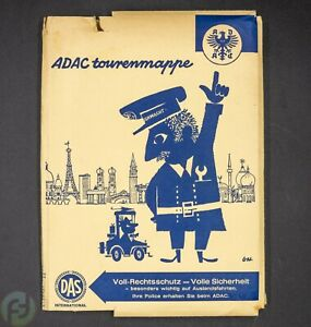 ADAC Tourenmappe 1965 - Reklame - Prospekt - Vintage