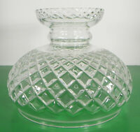 Criss Cross Crystal Glass Lamp Shade ONLY Globe