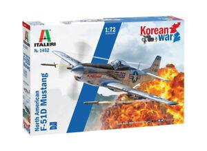 Italeri 1452 Mustang F-51D Korean War M1:72 Flugzeug unlackierter Bausatz