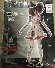Voodoo Doll Costume Adult Small (6–8) W/ Blonde Wig Dress Tights Collar