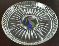 Georges Briard Serving Tray Painted Pear Design Vintage Glass Dinnerwear 1970's