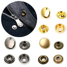10Sets Sewing Accessories Fasteners Garment DIY Snap Buttons Copper Press Studs