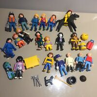 X20 figures Playmobil Bundle Job Lot Dracula skater horse witches cat broomstick