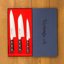 Kitchen Chef Messer Japanisches Gyuto Santoku Petit KANEFUSA Seki Japan mgsp - 3set