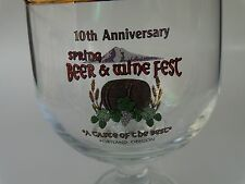 Beer Stem Tulip Glass >< 10th Anniversary Spring Beer & Wine Fest ~ Portland, OR