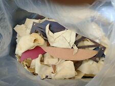 Scrap Leather Suede Mixed Pieces Arts Crafts Off Cuts Remnants Craft 1.2kg