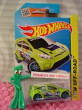 Case L/M 2015 i Hot Wheels '12 FORD FIESTA #78∞Sublime Green/Blue; 21∞Road Rally