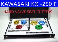 KAWASAKI KX 250F 2011-2012 BIKE VALVE SEAT CUTTER KIT CARBIDE TIPPED 3 ANGLE CT