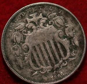 1866 Philadelphia Mint Shield Nickel w/ Rays