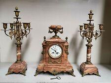 Ancienne Pendule MOUGIN , Horloge  mécanique V. CAMPISTRON TOULOUSE . ange putti