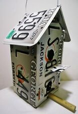 Handmade Aluminum Metal GA License Plate Bird House Teacher's Gift