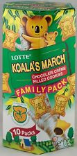 Lotte Koalas March Koala's Chocolate Filled Cookies Family Pack 10 Bags 6.89 oz