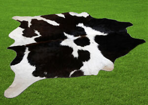 """100% New Cowhide Rugs Area Cow Skin Leather (45"""" x 43"""") Cow hide SA-7075"""