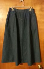 Womens Napa Valley sz 10 A-line denim blue jean skirt modest