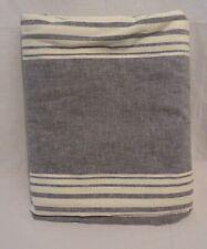 "Pottery Barn Charcoal Tuscan Stripe84"" Curtain Panel Drape"