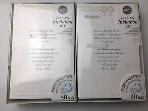 2 Wilton Complete Print Your Own Invitation Kits 80 Invitations (bin)