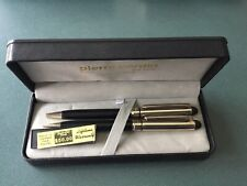Pierre Cardin Black and 14k gold Plated Pen And Pencil Set W/box
