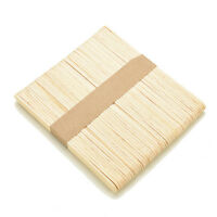 50Pcs Large Wooden Popsicle Sticks Kids Hand Crafts Ice Lolly DIY Making Toys HF
