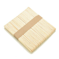 50Pcs Large Wooden Popsicle Sticks Kids Hand Crafts Ice Lolly DIY Making Toys LK