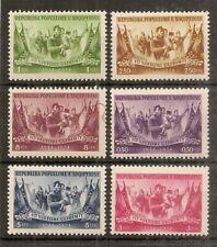 Albania 1954 Liberation SG583-588 MNH