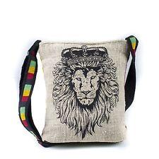 Casual Lightweight Rasta JAH Lion Messenger Sling Bag-90462