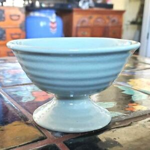 Bauer Pottery Ringware Footed Sherbet in HTF Celadon Grey Glaze