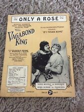 ONLY A ROSE - Film Sheet Music  - from THE VAGABOND KING Music By Rudolf Frill