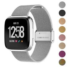 StrapsCo Milanese Mesh Stainless Steel Watch Band Strap for Fitbit Versa/2/Lite