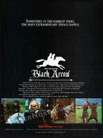 BLACK ARROW__Original 1985 print AD_video movie promo__OLIVER REED__FERNANDO REY