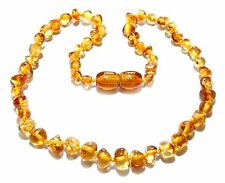 Genuine Baltic Amber Baby Necklace Knotted Child Honey Beads 12.2 - 13 in