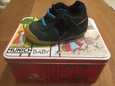 Scarpe MUNICH Baby Goal Bambino N# 18 Pelle Bimbo Shoes Leather Verde Marrone