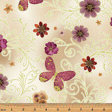 PRESSED BUTTERFLY FLORAL – Floral Impressions – KANVAS STUDIO – FABRIC FQ