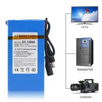 DC12V 9800mAh Super Rechargeable Portable Li-ion Battery+plug