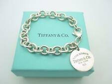 """Please Return to Tiffany & Co. Sterling Silver Round Tag Bracelet 7.5"""""""