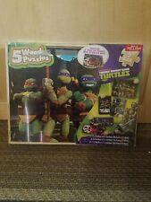 Nickelodeon Teenage Mutant Ninja Turtles 5 Wooden Puzzles & Storage Box - SEALED