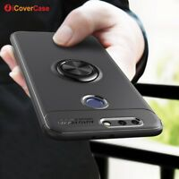 For Huawei Honor 8 Pro Shockproof Silicone TPU Ring Stand Case Cover