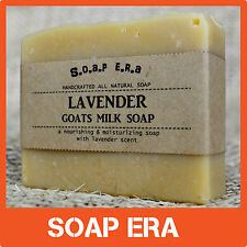 LAVENDER GOATS MILK -a silky & nourishing natural cold process handmade soap