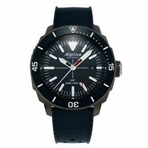 Alpina Seastrong Diver GMT Men's Quartz Caliber 44mm Watch AL-247LNN4TV6