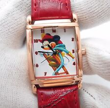 MICKY MOUSE, Classic, Fireman on Latter, Rose Gold Case&Buckle UNISEX WATCH 1435