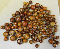 8986m Group or Bulk Lot of 100 Clay German Bennington Marbles .43 to .88 In