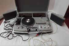 vtg portable record player radio speaker headphone Samsonite attache case PARTS