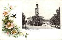 WeimarThüringen Litho-AK um 1900 Strassen Partie am Residenz-Schloss ungelaufen