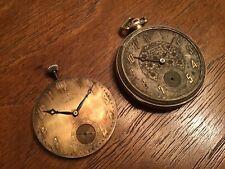 Gruen Semi Thin 14k Gold Filled, Ultra Veri Thin Movement Pocket Watch Lot As Is