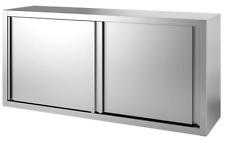 101083 Gastronomie Edelstahl Wandhängeschrank mit Schiebetür 1000x400x660Hmm