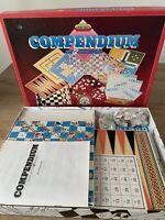 Vintage Compendium Board Games By Spears Games 12 Games Inside Chess Bingo Etc