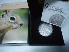 PALAU 2012 - 5 Dollars in Silber, Antique Finish - Swarovski - SQUIRREL Eichhörn