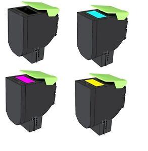 4x Toner kompatibel zu Lexmark CS317 CX317 CS417 CX417 SC517 CX517